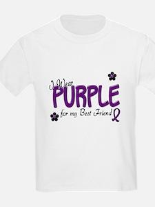 I Wear Purple For My Best Friend 14 T-Shirt