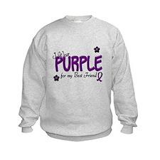 I Wear Purple For My Best Friend 14 Sweatshirt