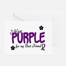 I Wear Purple For My Best Friend 14 Greeting Cards