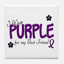 I Wear Purple For My Best Friend 14 Tile Coaster