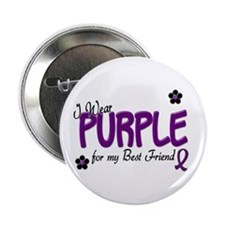 "I Wear Purple For My Best Friend 14 2.25"" Button ("