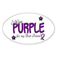 I Wear Purple For My Best Friend 14 Oval Decal