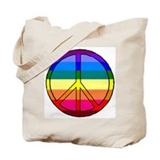 Prismatic Peace Symbol Tote Bag