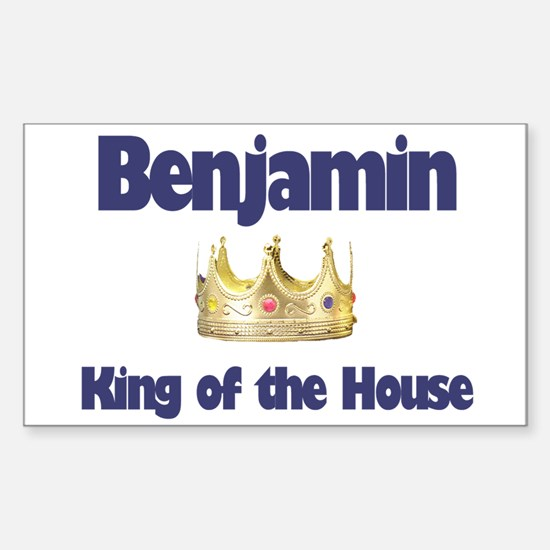 Benjamin - King of the House Rectangle Decal