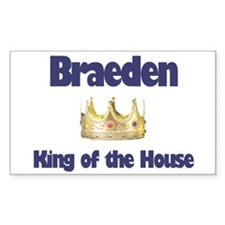 Braeden - King of the House Rectangle Decal