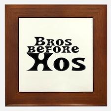 Bros Before Hos Framed Tile