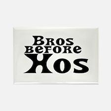 Bros Before Hos Rectangle Magnet