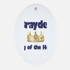 Brayden - King of the House Oval Ornament