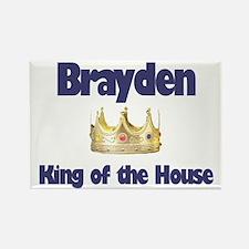 Brayden - King of the House Rectangle Magnet