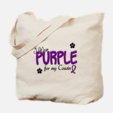 I Wear Purple For My Cousin 14 Tote Bag