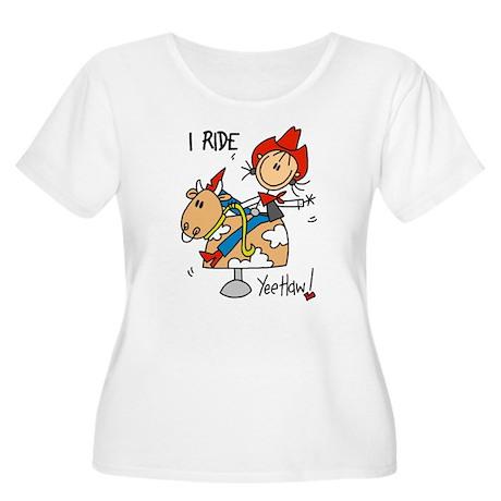 I Ride Women's Plus Size Scoop Neck T-Shirt