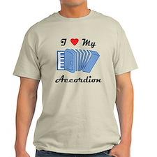I Love My Accordion T-Shirt