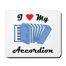 I Love My Accordion Mousepad