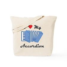 I Love My Accordion Tote Bag