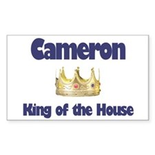 Cameron - King of the House Rectangle Decal