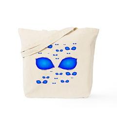 Alien Blue Eyes Tote Bag
