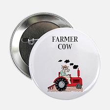 """Farmer Cow 2.25"""" Button (10 pack)"""