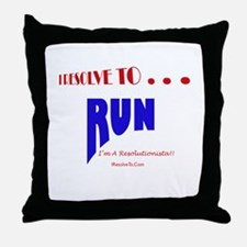 Cool New year resolution Throw Pillow