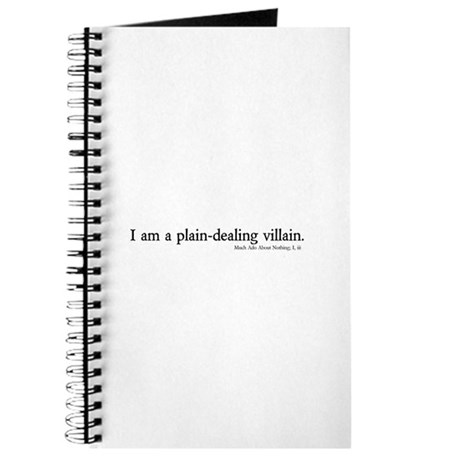 plain-dealing villain Journal