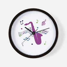 Saxophone Music Wall Clock