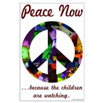 Large Poster - Peace Now for the Kids