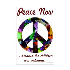 Peace Sign Kids Small Poster