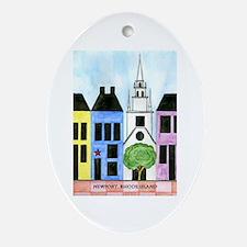 Newport Trinity Church Oval Ornament