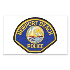 Newport Beach Police Rectangle Sticker 50 pk)