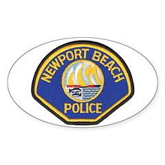 Newport Beach Police Oval Decal