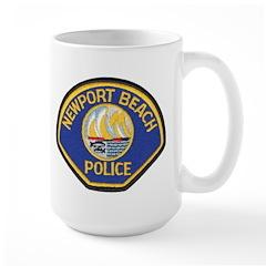 Newport Beach Police Large Mug