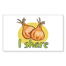 I share garlic Rectangle Decal