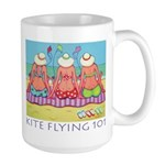 Kite Flying 101 Beach Large Mug