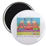 Kite Flying 101 Beach Magnet