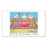 Kite Flying 101 Beach Rectangle Sticker