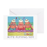 Kite Flying 101 Beach Greeting Cards (Pk of 10)