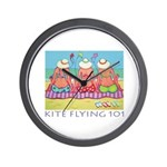 Kite Flying 101 Beach Wall Clock