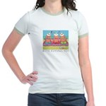 Kite Flying 101 Beach Jr. Ringer T-Shirt