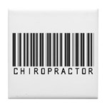 Chiropractor Barcode Tile Coaster