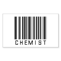 Chemist Barcode Rectangle Decal