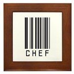 Chef Barcode Framed Tile