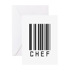 Chef Barcode Greeting Card