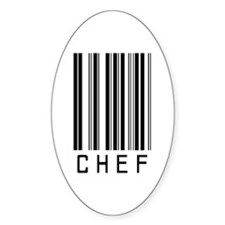 Chef Barcode Oval Decal