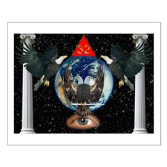 Masonic 32nd Degree Eagles in the Sky Posters