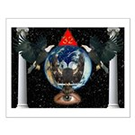 Masonic 32nd Degree Eagles in the Sky Small Poster