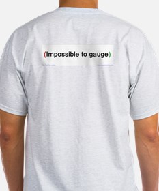 """Impossible"" (back) Ash Grey T-Shirt"