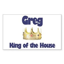Greg - King of the House Rectangle Decal