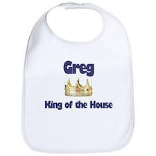 Greg - King of the House Bib