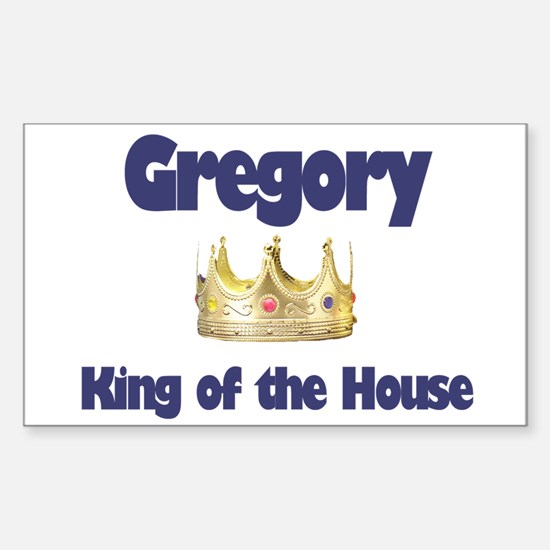 Gregory - King of the House Rectangle Decal