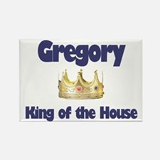 Gregory - King of the House Rectangle Magnet