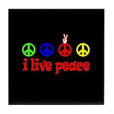 """""""i Live Peace"""" Tile Coaster"""